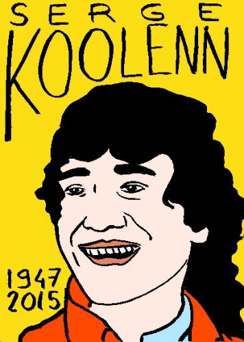 mort de serge koolenn, dessin, portrait, laurent jacquy,répertoire des macchabbées célèbres, visage,mort d'homme