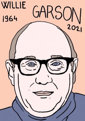 mort de Willie Garson,dessin,portrait,laurent Jacquy