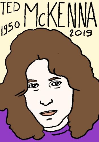 mort de ted McKenna, dessin, portrait, laurent jacquy,répertoire des macchabées célèbres,mort d'homme,