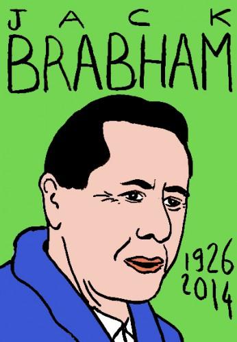 mort de jack Brabham,portrait,dessin,laurent jacquy,répertoire des macchabées célèbres,