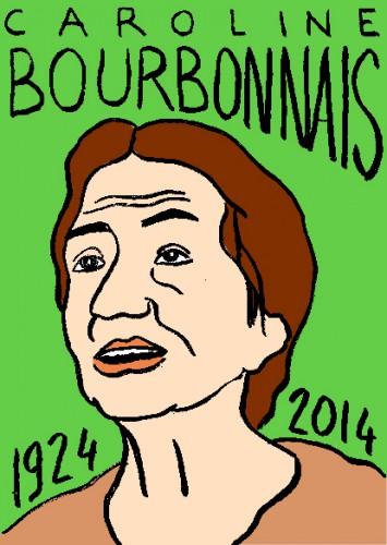 mort de caroline bourbonnais,dessin,portrait,laurent jacquy,répertoire des macchabées célèbres,mort d'homme,visage