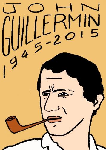 mort de john Guillermin, dessin, portrait, laurent jacquy,répertoire des macchabées célèbres,mort d'homme,