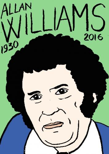 mort d'allan williams, dessin, portrait, laurent jacquy,répertoire des macchabées célèbres,mort d'homme,
