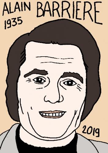 mort d'Alain Barrière, dessin, portrait, laurent jacquy,répertoire des macchabées célèbres,mort d'homme,
