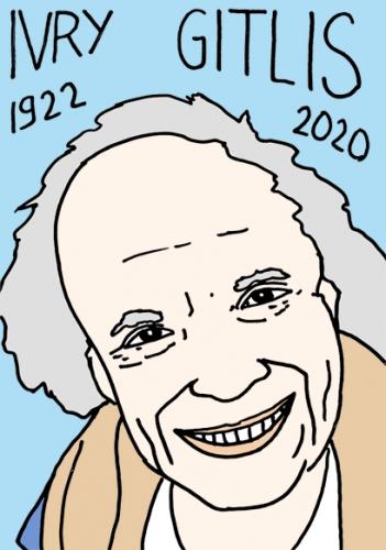 Mort d'Ivry Gitlis,dessin,portrait,Laurent Jacquy