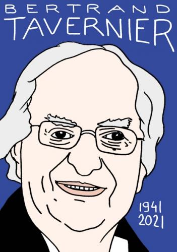 mort de Bertrand Tavernier,dessin,portrait,laurent Jacquy,poésie