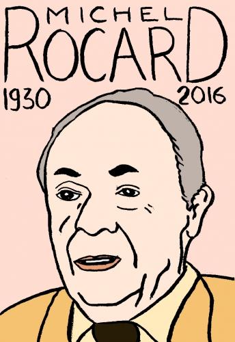 mort de michel rocard, dessin, portrait, laurent jacquy,répertoire des macchabées célèbres,mort d'homme,