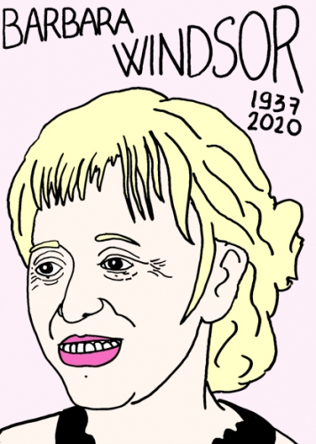 Mort de Barbara Windsor, dessin, portrait,laurent jacquy