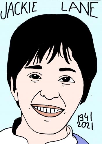 mort de Jackie Lane,dessin,portrait,laurent Jacquy