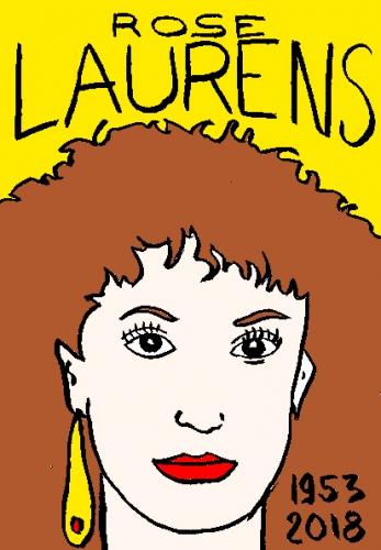 mort de rose laurens, dessin, portrait, laurent jacquy,répertoire des macchabées célèbres,mort d'homme,