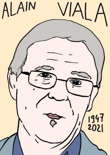 mort de Alain Viala,dessin,portrait,laurent Jacquy