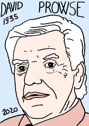 mort de David Prowse dessin, portrait, laurent jacquy,répertoire des macchabées célèbres,mort d'homme,