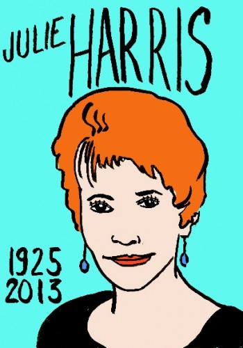 Julie Harris,portrait,dessin,laurent jacquy,french outsider,répertoire des macchabées célèbres,les beaux dimanches