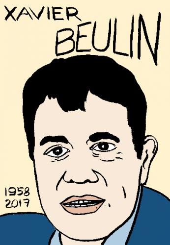 mort de xavier Beulin, dessin, portrait, laurent jacquy,répertoire des macchabées célèbres,mort d'homme,