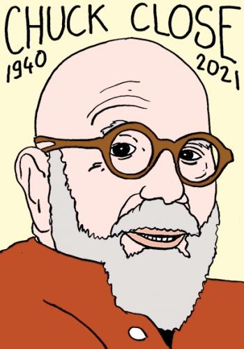 mort de Chuck Close,dessin,portrait,laurent Jacquy