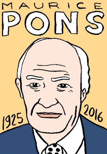 mort de maurice Pons, dessin, portrait, laurent jacquy,répertoire des macchabées célèbres,mort d'homme,image libre de droit