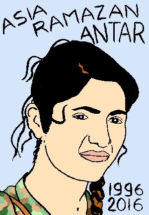 mort d'asia ramazan antar, dessin, portrait, laurent jacquy,répertoire des macchabées célèbres,mort d'homme,