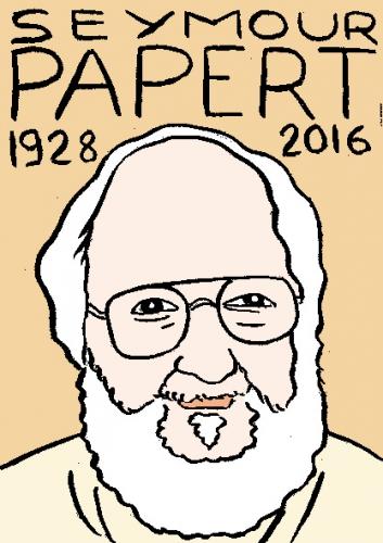 mort de seymour papert, dessin, portrait, laurent jacquy,répertoire des macchabées célèbres,mort d'homme,