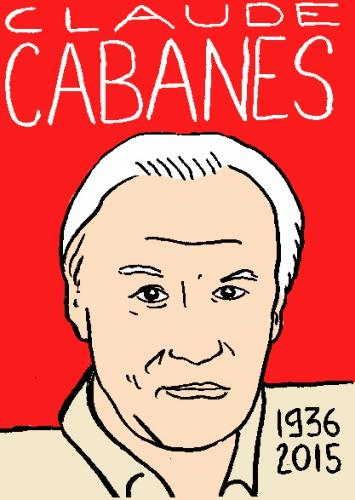 mort de claude cabanes, dessin, portrait, laurent jacquy,répertoire des macchabbées célèbres, visage,mort d'homme