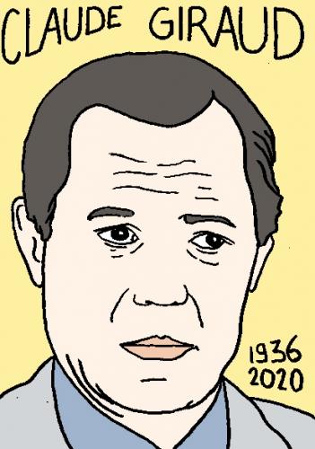 mort de Claude Giraud, dessin, portrait, laurent jacquy,répertoire des macchabées célèbres,mort d'homme,