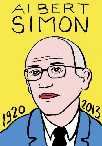 Albert Simon,dessin,portrait,laurent jacquy,french outsider,répertoire des macchabées célèbres,les Beaux Dimanches,radio,europe1,météorologie