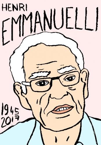 mort d'henri Emmanuelli, dessin, portrait, laurent jacquy,répertoire des macchabées célèbres,mort d'homme,