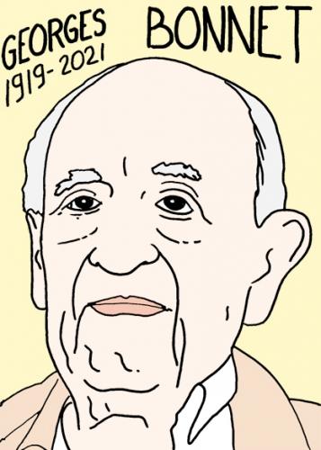 mort de Georges Bonnet,dessin,portrait,laurent Jacquy