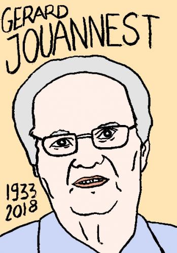mort de gérard jouannest, dessin, portrait, laurent jacquy,répertoire des macchabées célèbres,mort d'homme,