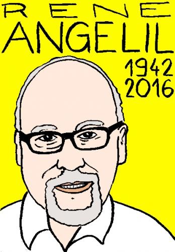 mort de René Angelil, dessin, portrait, laurent jacquy,répertoire des macchabées célèbres,mort d'homme,