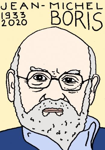 mort de Jean-Michel Boris, dessin, portrait, laurent jacquy,répertoire des macchabées célèbres,mort d'homme,