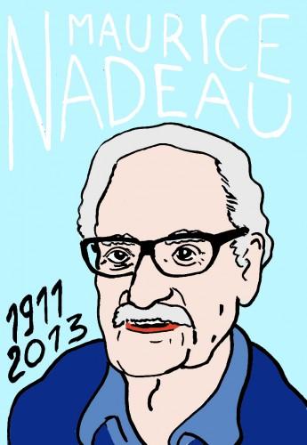 Maurice Nadeau,dessin,portrait,art singulier,art modeste,Laurent Jacquy,Mort d'homme,les beaux dimanches