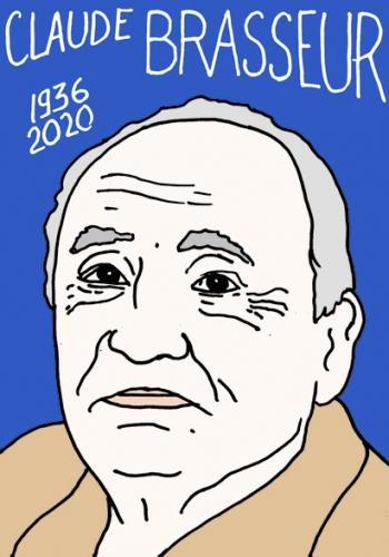 Mort de Claude Brasseur,dessin,portrait,Laurent Jacquy
