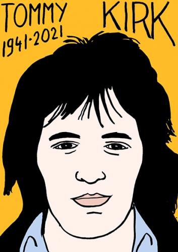mort de Tommy Kirk,dessin,portrait,laurent Jacquy