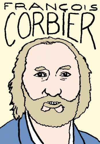 mort dfrançois corbier, dessin, portrait, laurent jacquy,répertoire des macchabées célèbres,mort d'homme,
