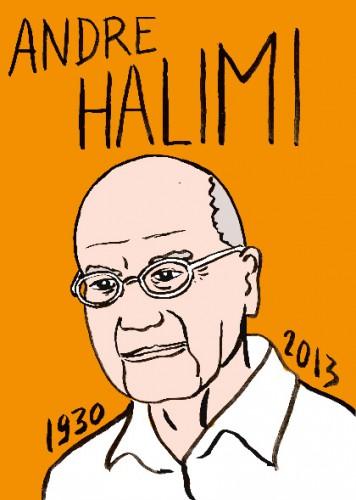 mort d'andré halimi,dessin,portrait,laurent jacquy,mort d'homme, répertoire des macchabées célèbres, art modeste,cinéma
