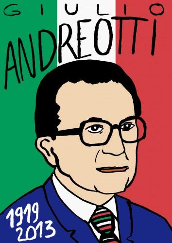 Giulio Andreotti,portrait,dessin,laurent jacquy,art modeste,art singulier,les beaux dimanches