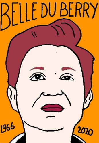 mort de Belle du Berry, dessin, portrait, laurent jacquy,répertoire des macchabées célèbres,mort d'homme,
