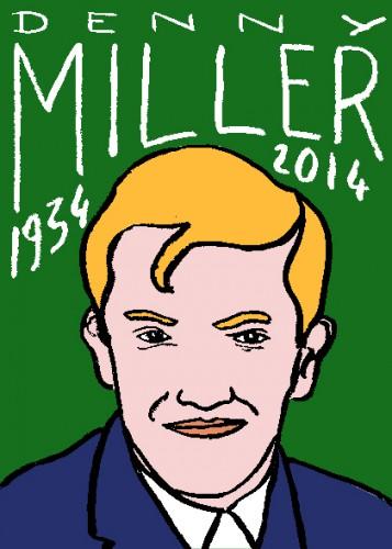 mort de denny miller,dessin,portrait,laurent jacquy,répertoire des macchabées célèbres