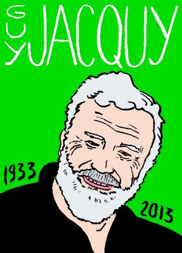 Mort de guy jacquy,dessin,portrait,laurent jacquy,mort d'homme,répertoire des macchabées célèbres,art modeste