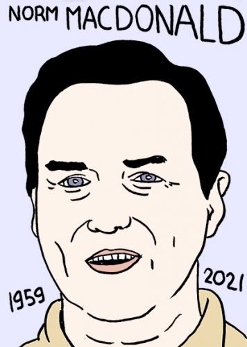 mort de Norm MacDonald,dessin,portrait,laurent Jacquy
