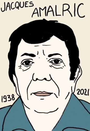 mort de Jacques Amalric,dessin,portrait,laurent Jacquy,journaliste