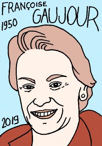 mort de Françoise Gaujour, dessin, portrait, laurent jacquy,répertoire des macchabées célèbres,mort d'homme,