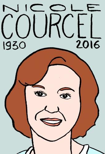 mort de Nicole Courcel, dessin, portrait, laurent jacquy,répertoire des macchabées célèbres,mort d'homme,