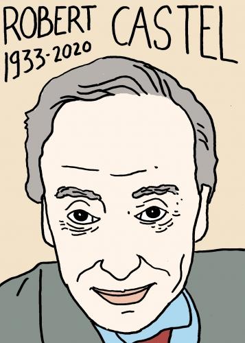 Mort de Robert Castel, dessin, portrait,laurent jacquy