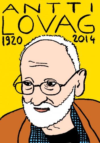 mort d'antti Lovag,dessin,portrait,laurent jacquy,répertoire des macchabées célèbres