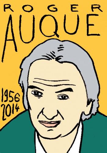 mort de roger auque,dessin,portrait,laurent jacquy,répertoire des macchabées célèbres
