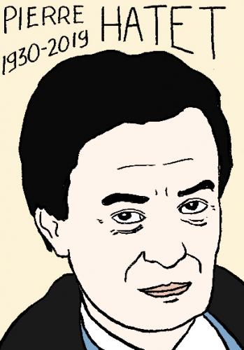 mort de pierre hatet, dessin, portrait, laurent jacquy,répertoire des macchabées célèbres,mort d'homme,
