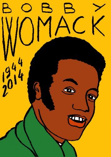 mort de bobby womack,dessin,portrait,laurent jacquy,répertoire des macchabées célèbres,mort d'homme