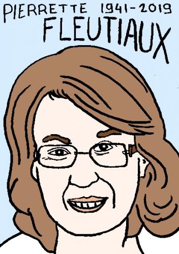 mort de Pierette Fleutiaux, dessin, portrait, laurent jacquy,répertoire des macchabées célèbres,mort d'homme,