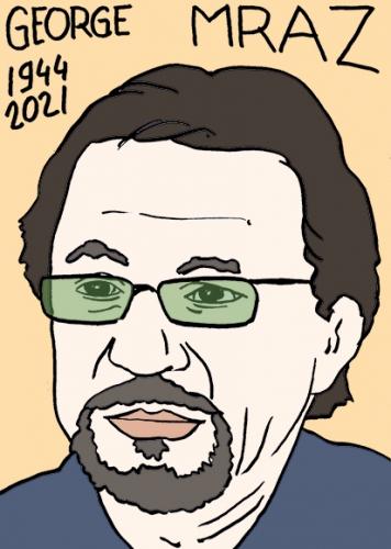 mort de George Mraz,dessin,portrait,laurent Jacquy